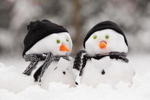 Two little snowmen photo