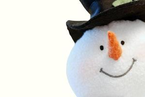 Snowman face isolated