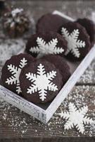 galletas de copo de nieve foto