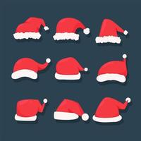 Red Christmas hat set