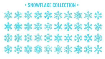 Beautiful blue snowflake design collection