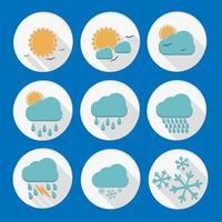 Weather circular icon set