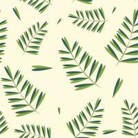 Simple tropical leaves pattern