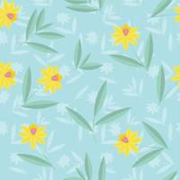 Daffodils flower pattern vector
