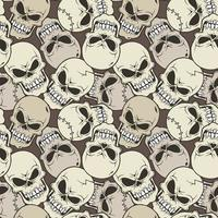 Skull face pattern on brown background