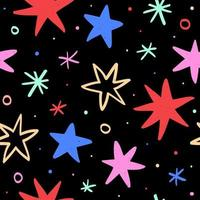 Christmas pattern with stars vector