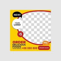Food social media banners post template