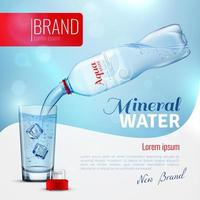 Realistic mineral water poster template vector