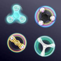juego de spinners con luces led