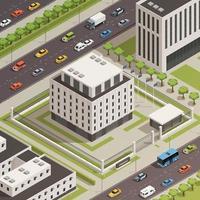 edificios gubernamentales isométricos vector