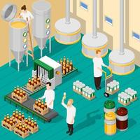 Isometric brewing company vector