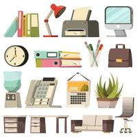 colección de iconos de oficina vector