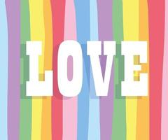 Love text on LGBTI background vector