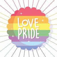 Love pride in LGBTI flag seal stamp  vector