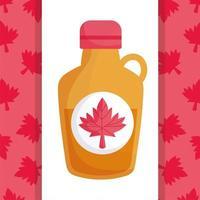 jarabe de arce canadiense del feliz día de canadá