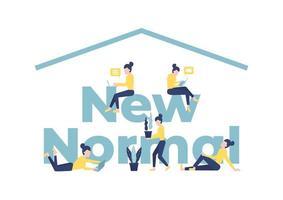 nuevo concepto de tipografía de estilo de vida normal
