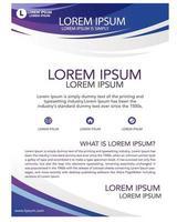 folleto de promoción comercial de la empresa simple