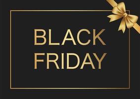 marco de venta de viernes negro con una cinta dorada vector