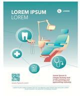 cartel de promoción de negocios médicos de conciencia dental