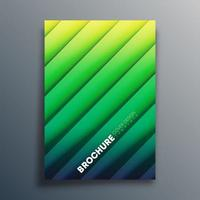 Gradient green cover template with diagonal lines