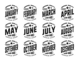 Legends are born various months vintage t-shirt typography vector