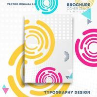 Diseño de formas geométricas circulares para flyer, cartel, folleto.
