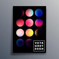 cubierta de círculo degradado colorido, folleto, folleto