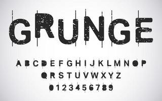 Grunge alphabet template