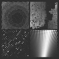 patrones de semitono blanco aislado en un negro