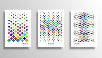 Colorful rhombus pattern set for flyer, poster, brochure vector