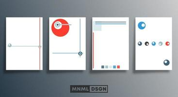 Blank minimal circle and line design templates set vector