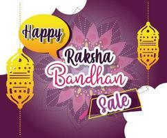 cartel de mega venta de raksha bandhan vector