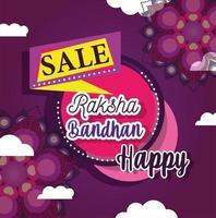 cartel de mega venta de raksha bandhan