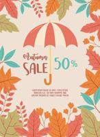paraguas y follaje de temporada. venta de compras con descuento