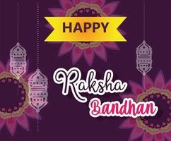 diseño de cartel feliz raksha bandhan