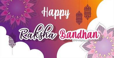diseño de cartel feliz raksha bandhan vector