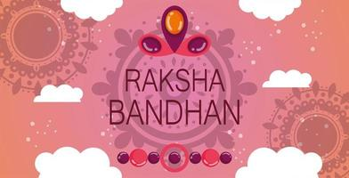 feliz diseño de banner raksha bandhan