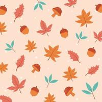 Autumnal season. Maple leaves, acorns, and foliage
