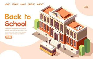 Back to school isometric landing page