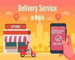 Scooter mobile delivery service concept