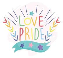 amor orgullo texto diseño lgbt
