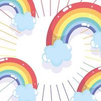 Rainbows freedom background vector