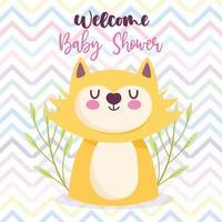 Baby shower cat