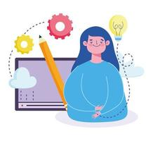 Student website digital creativity course  vector
