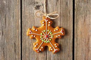Christmas homemade gingerbread cookie photo