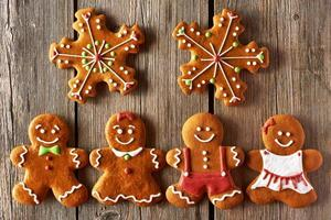 Christmas gingerbread couples cookies