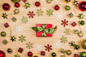 christmas decoration and boxes photo