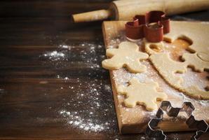 Making gingerbread cookies.