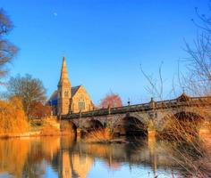 Church on the river severn.