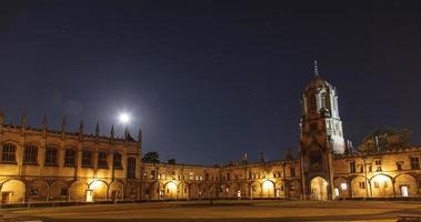 Christ Church College in Oxford at night photo
